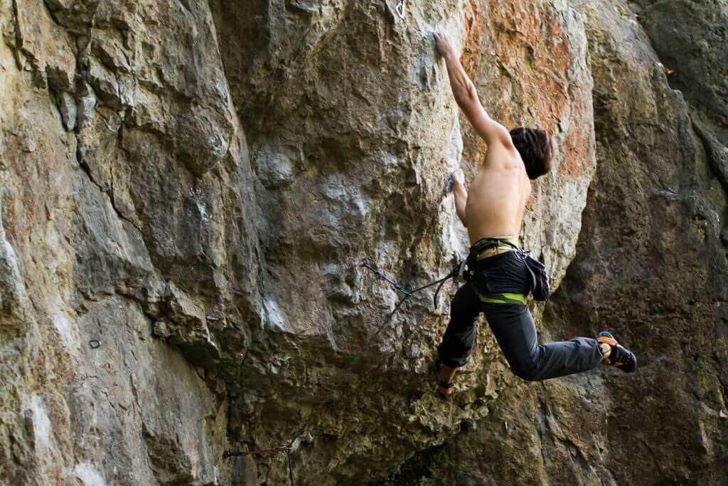 Daniel Climbing in Frankenjura