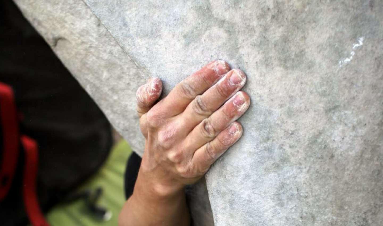 chalk bouldering