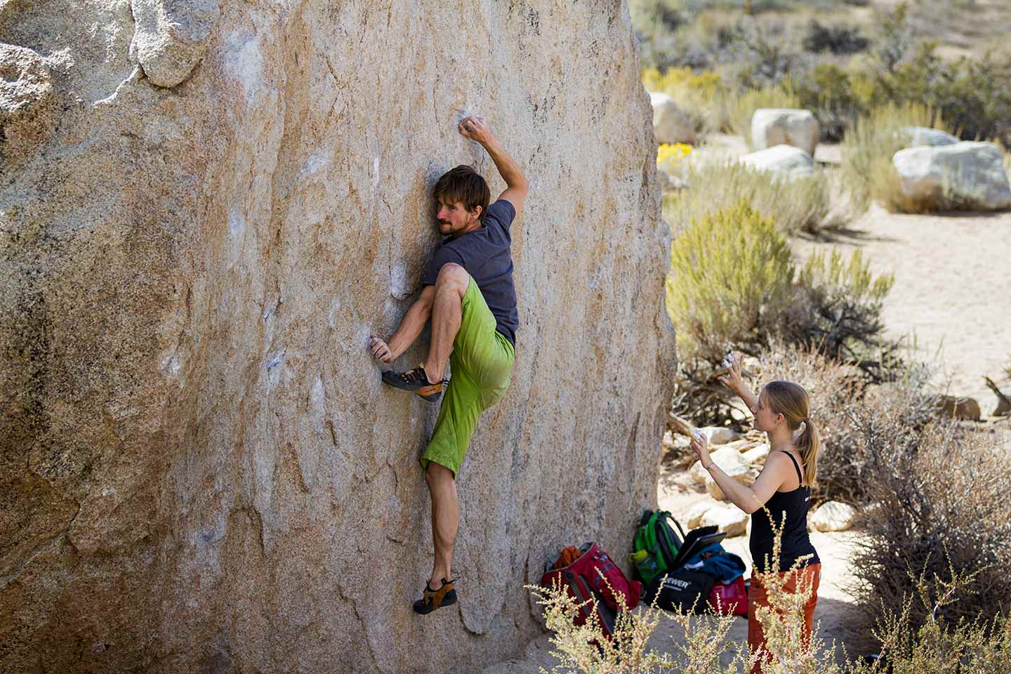 Flexibility boulder problem in bishop, buttermilks